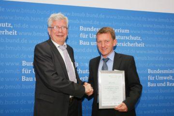 """Auszeichnung des BMUB für das """"Energieeffizienznetzwerk für Unternehmen in Bayern"""""""