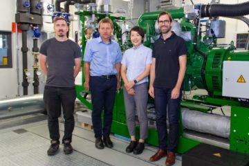 Messung an Biogasanlage mit japanischer Unterstützung